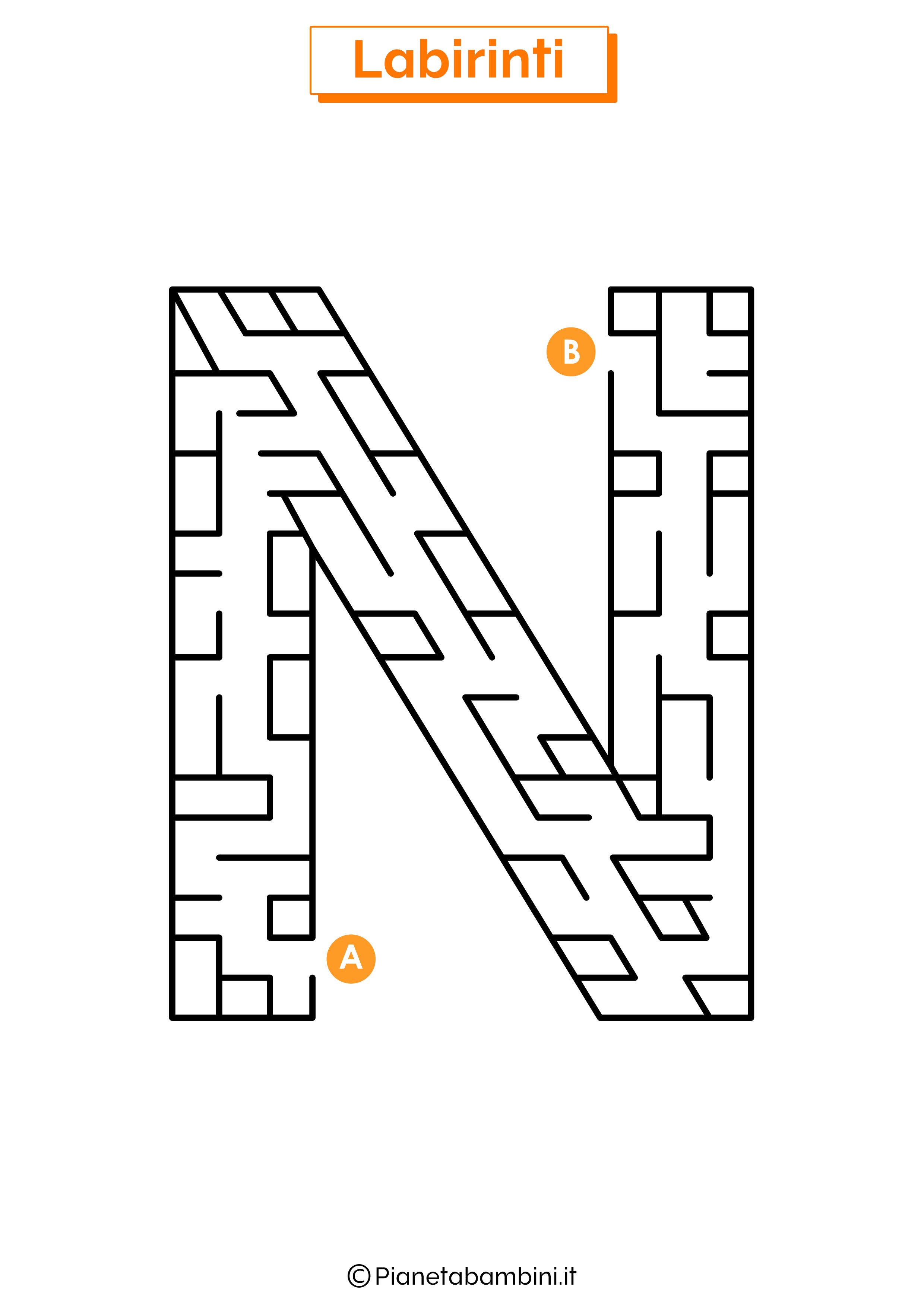 Labirinto sulla lettera N