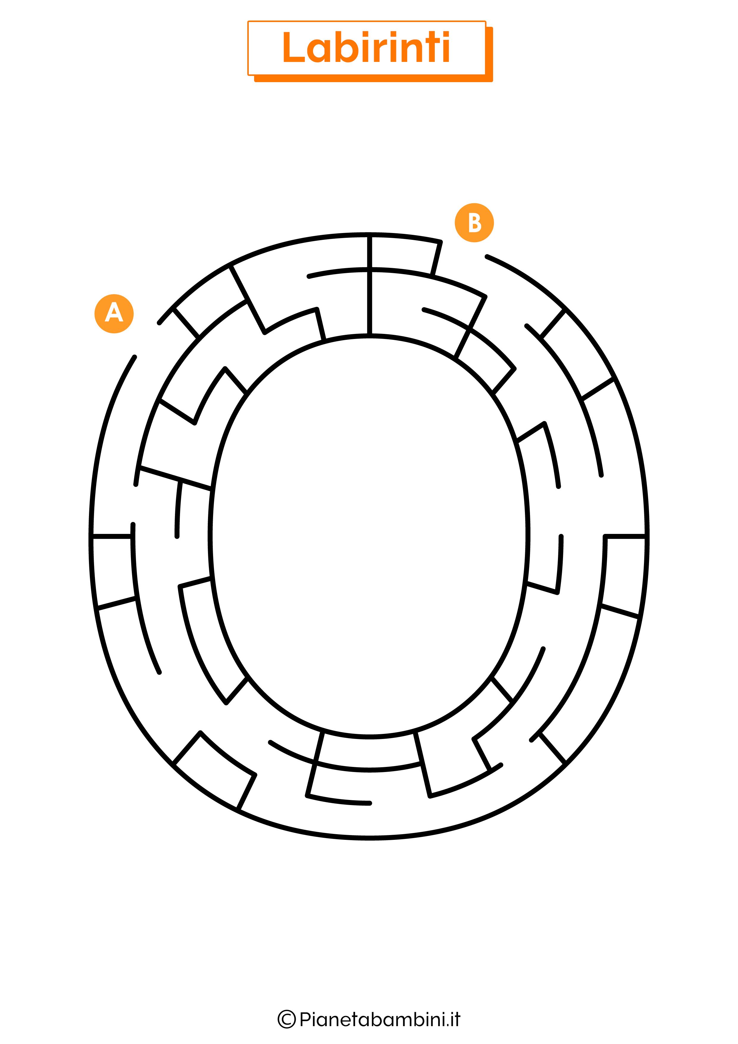 Labirinto sulla lettera O