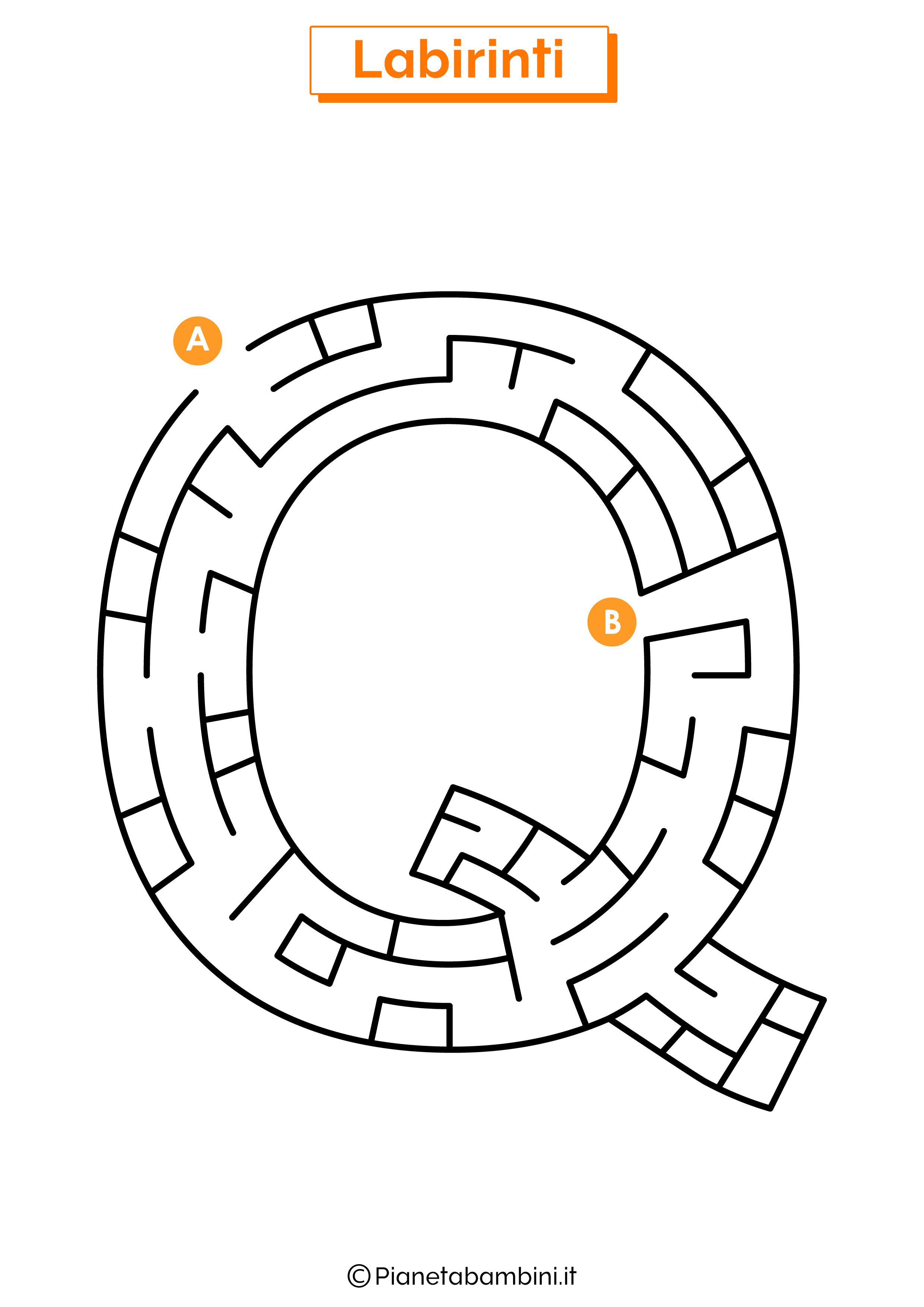 Labirinto sulla lettera Q