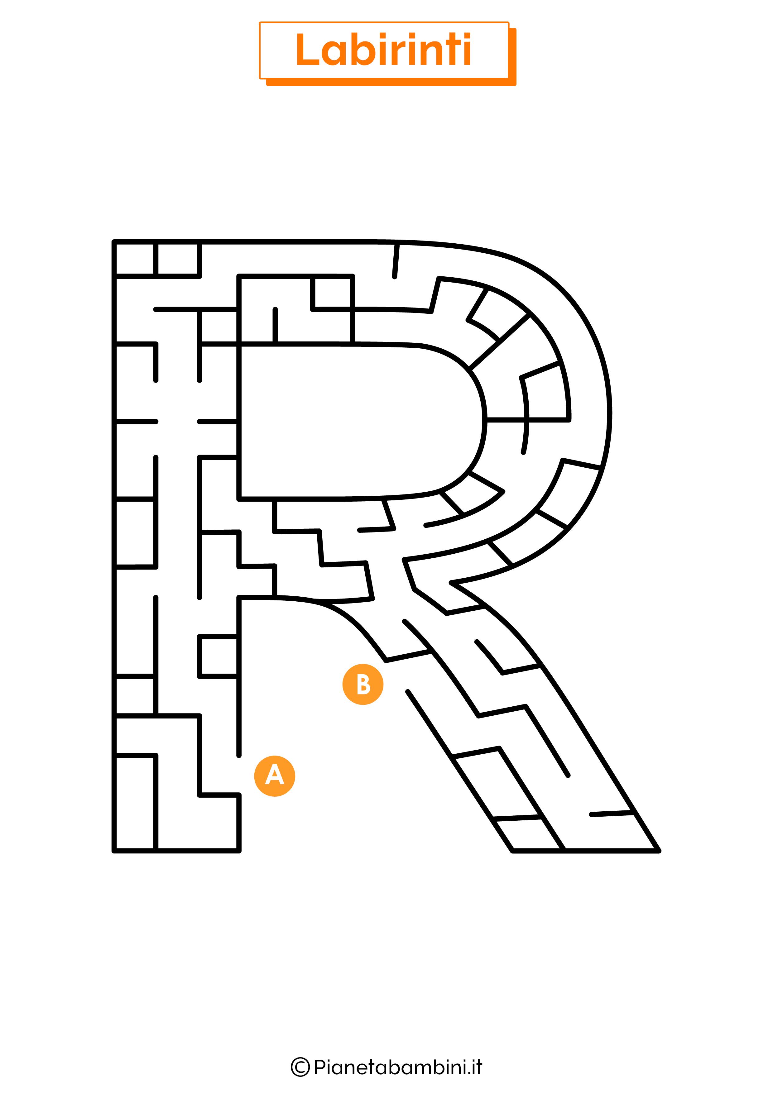 Labirinto sulla lettera R