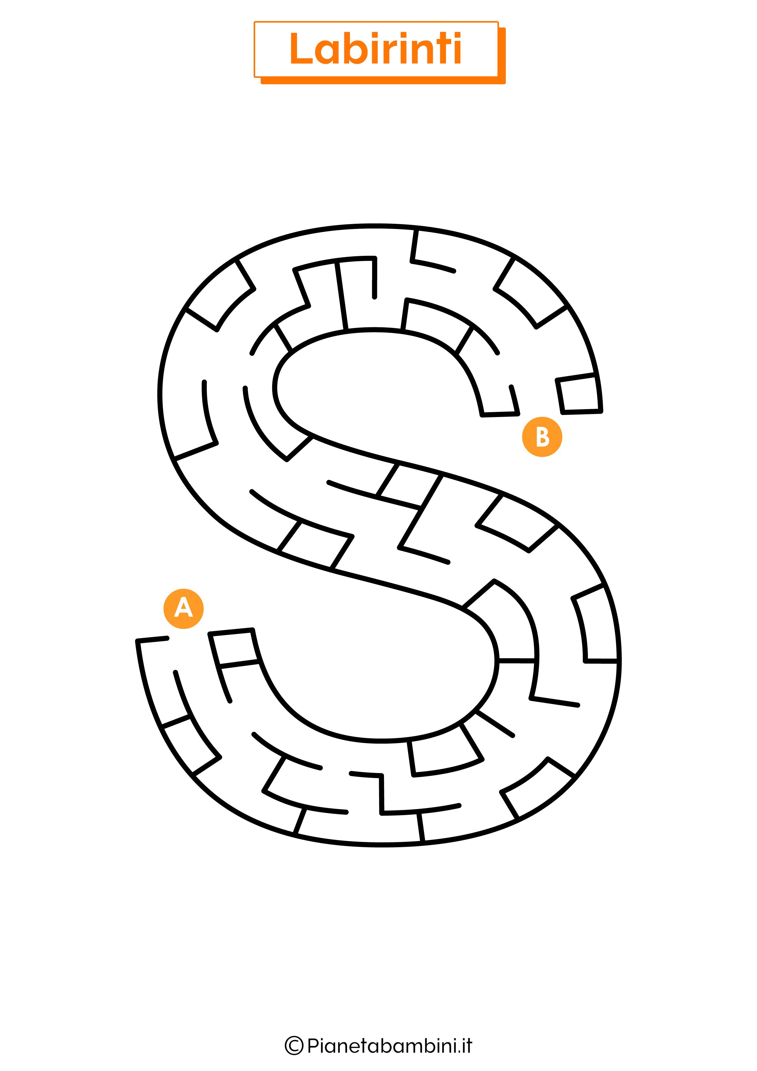 Labirinto sulla lettera S