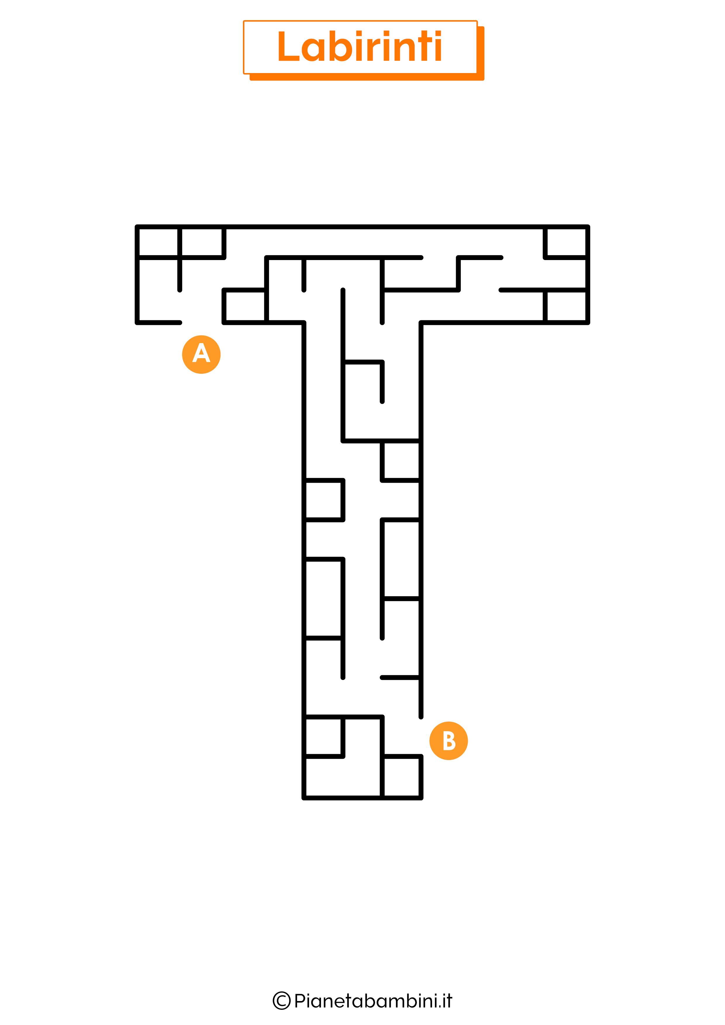 Labirinto sulla lettera T