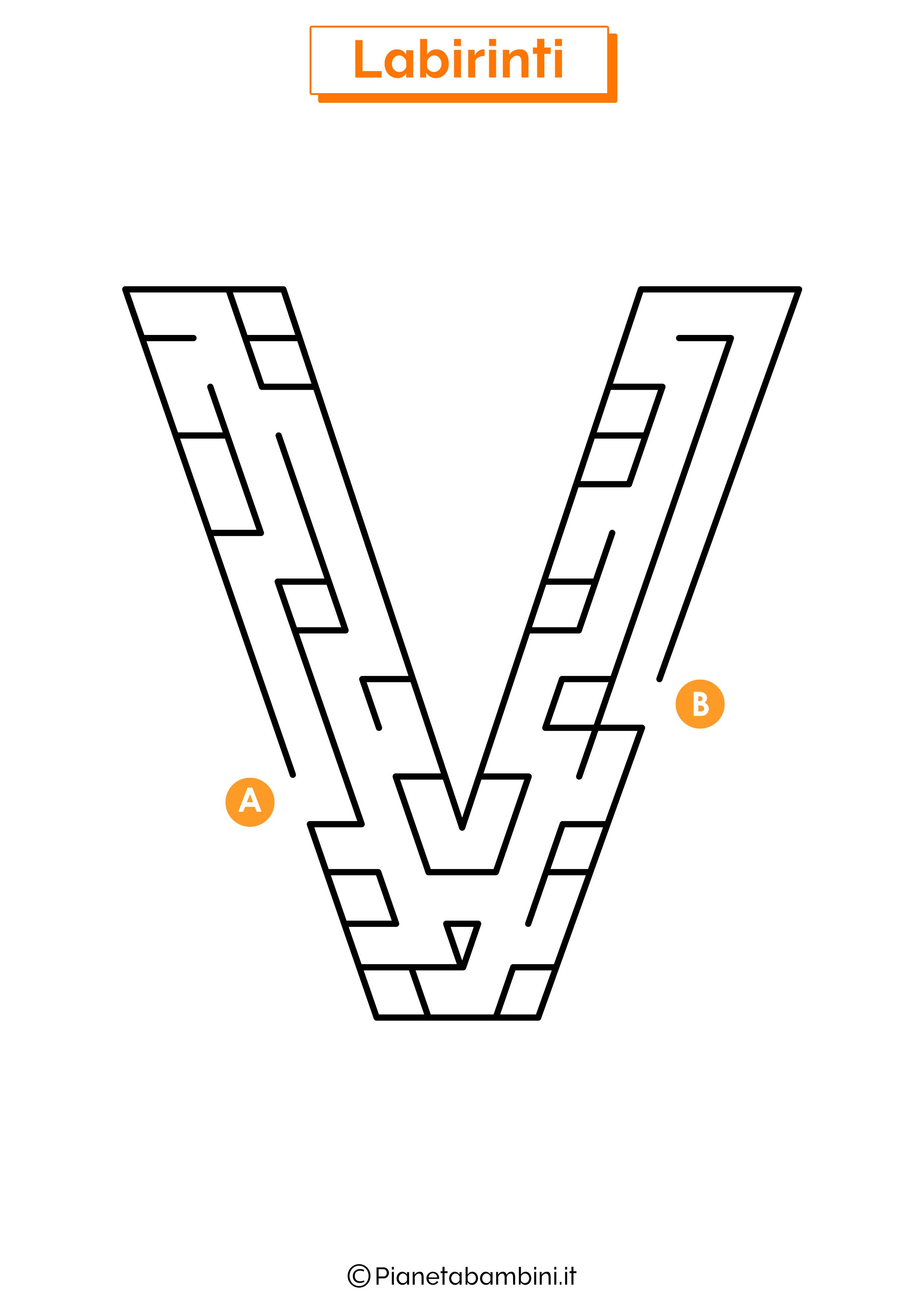 Labirinto sulla lettera V
