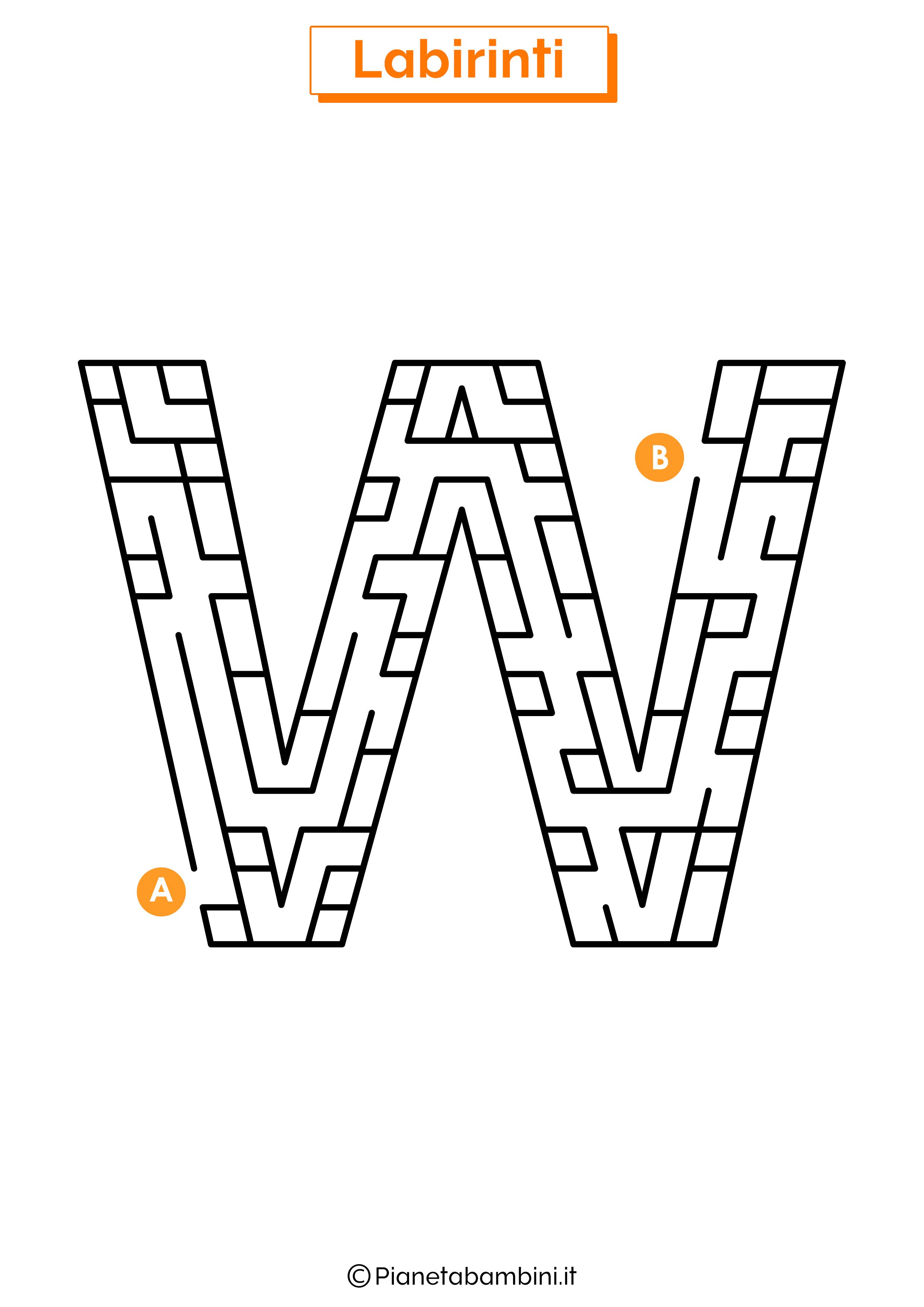 Labirinto sulla lettera W