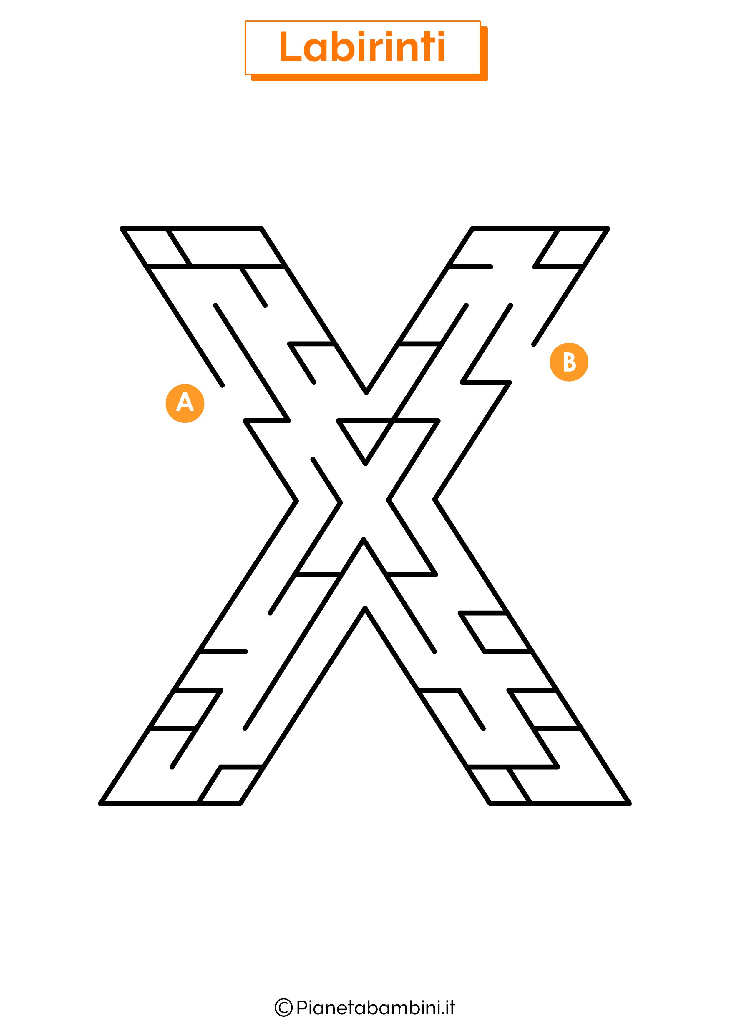 Labirinto sulla lettera X