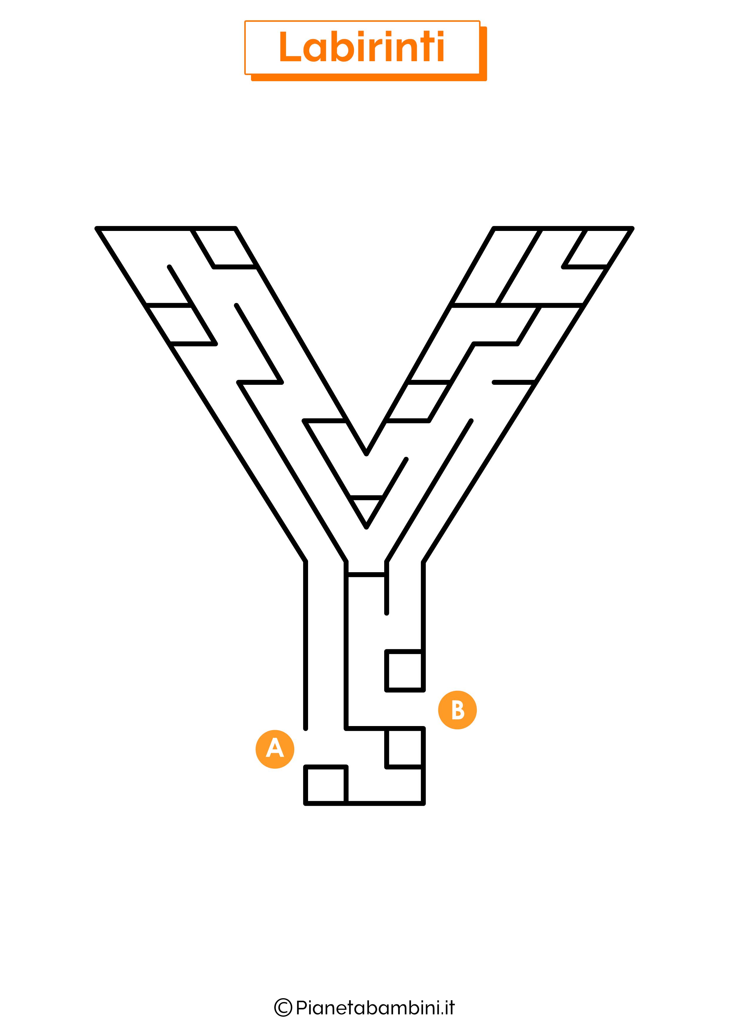 Labirinto sulla lettera Y