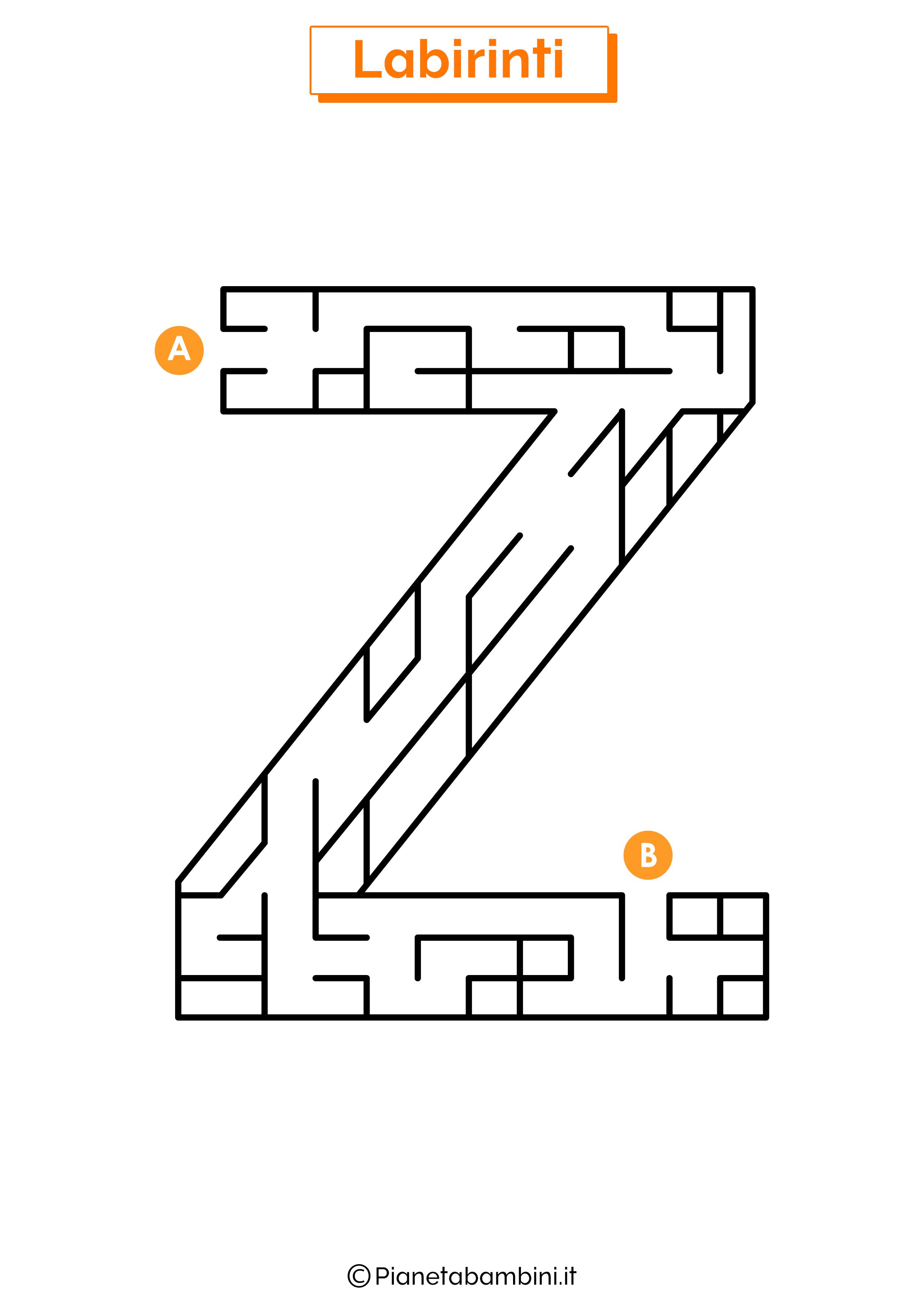 Labirinto sulla lettera Z