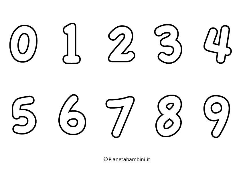 Numeri da stampare e ritagliare vj86 regardsdefemmes - Colore per numeri per i bambini ...