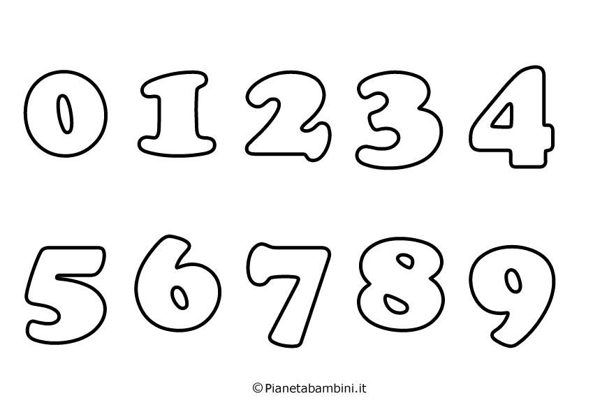 disegni da colorare con numeri vr13