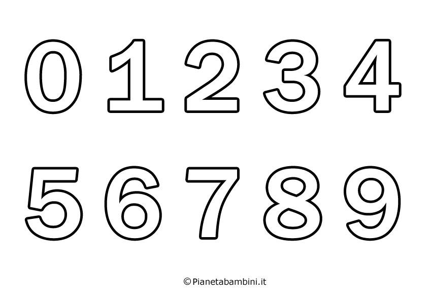 Numeri Da Stampare Colorare E Ritagliare Per Bambini