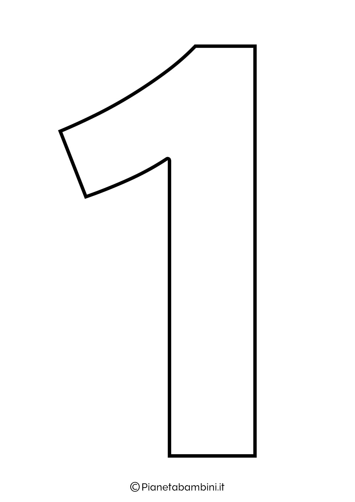 Numero 1 da stampare