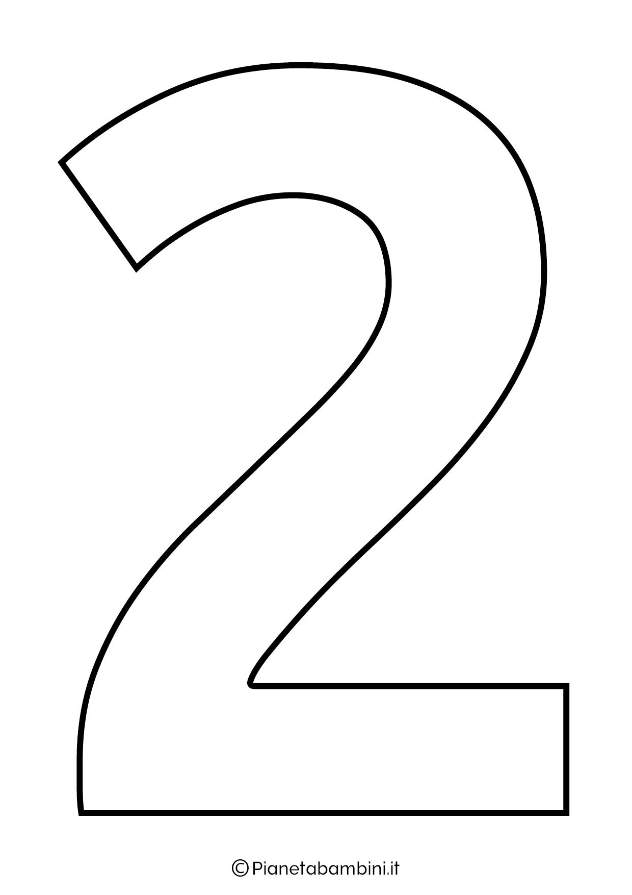Numero 2 da stampare
