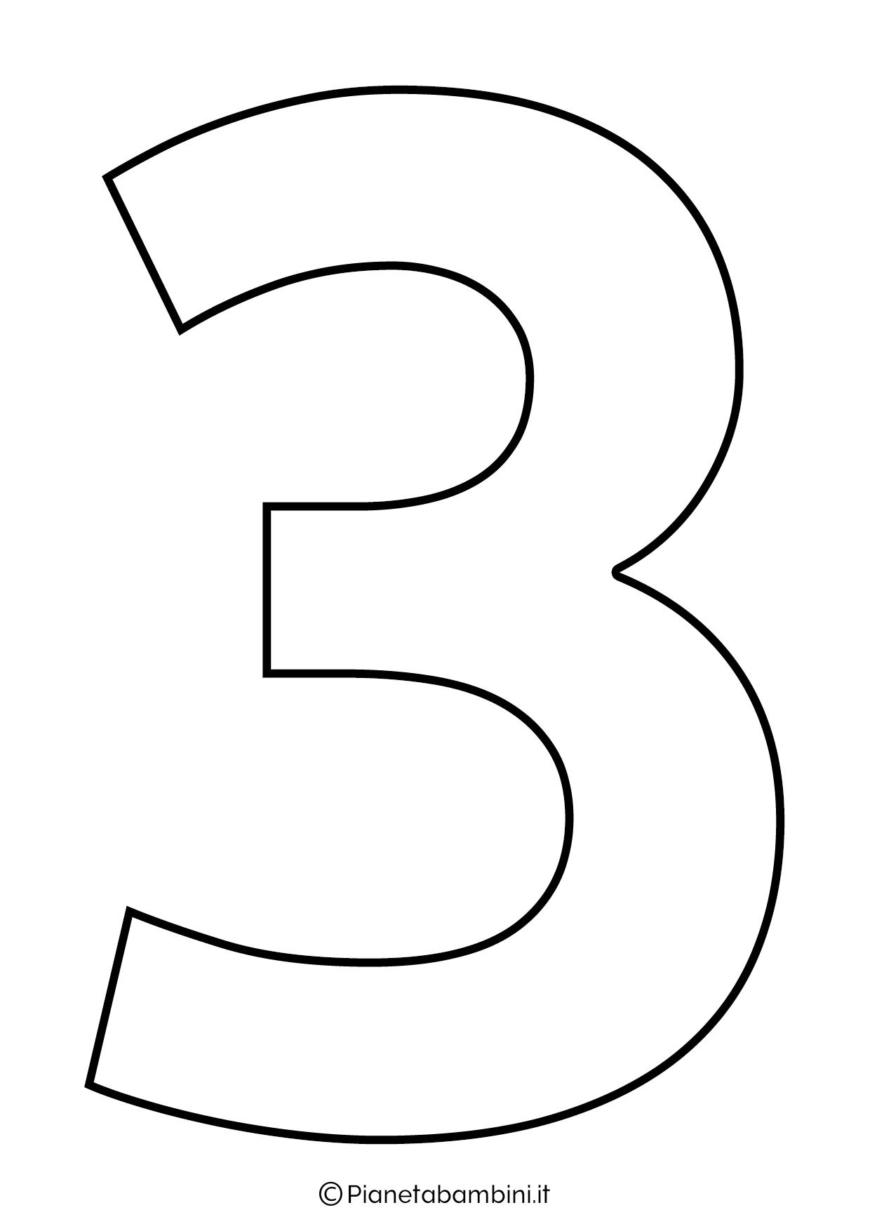 Numero 3 da stampare
