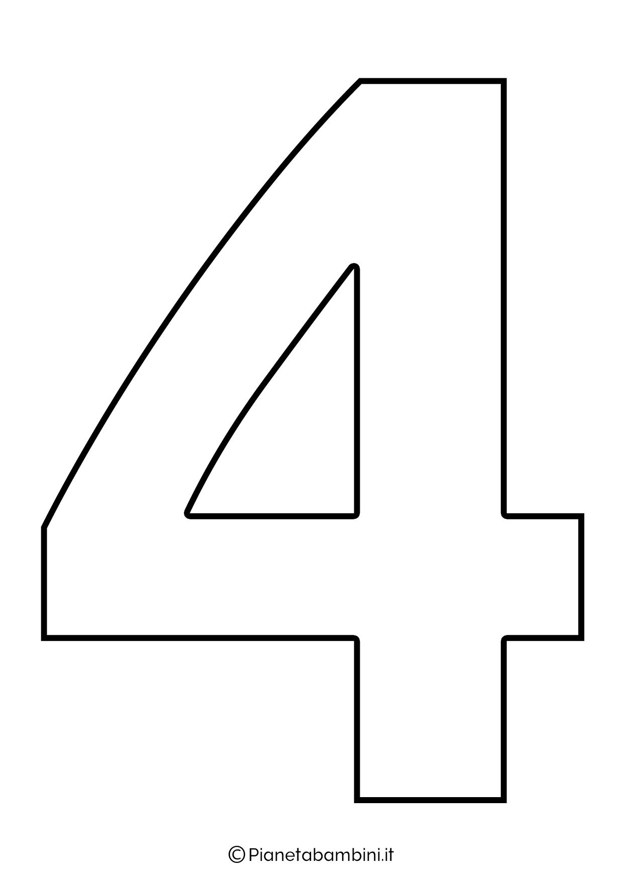 Numero 4 da stampare