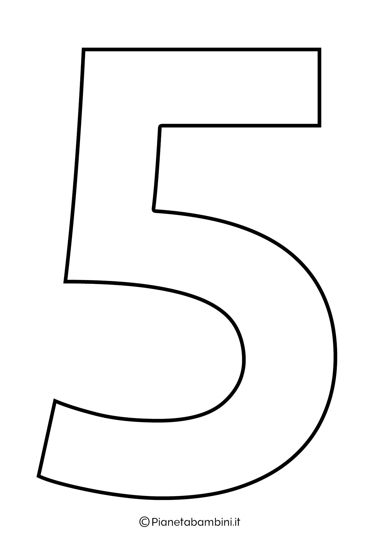 Numero 5 da stampare