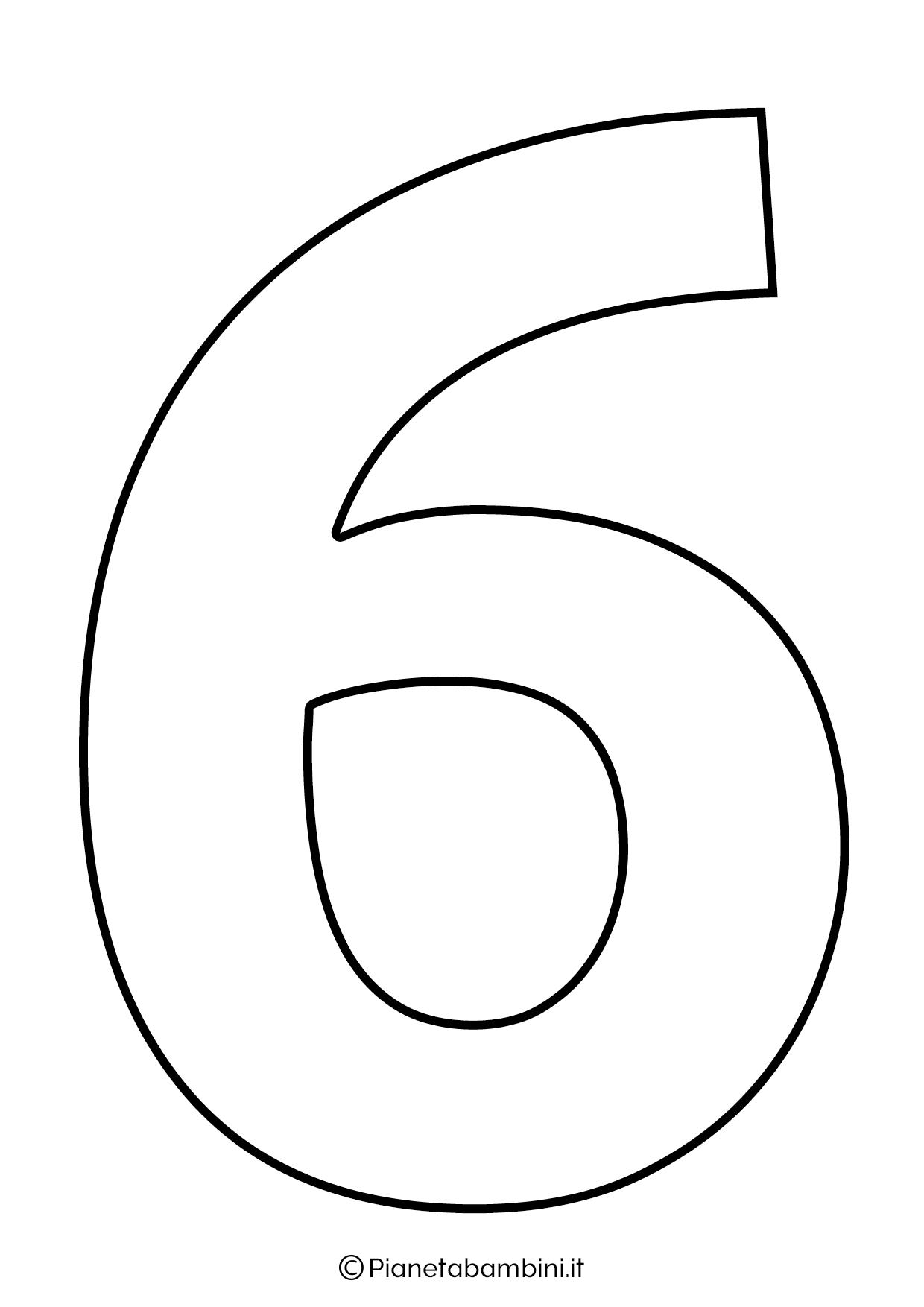 Numero 6 da stampare