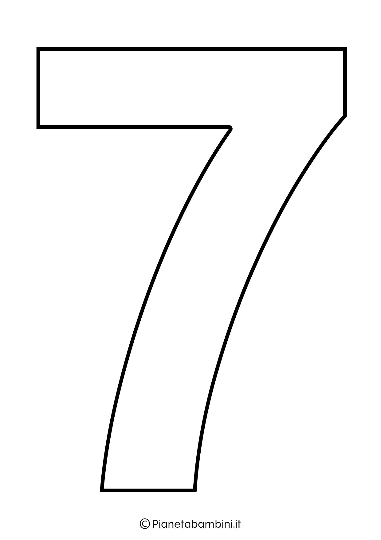 Numero 7 da stampare