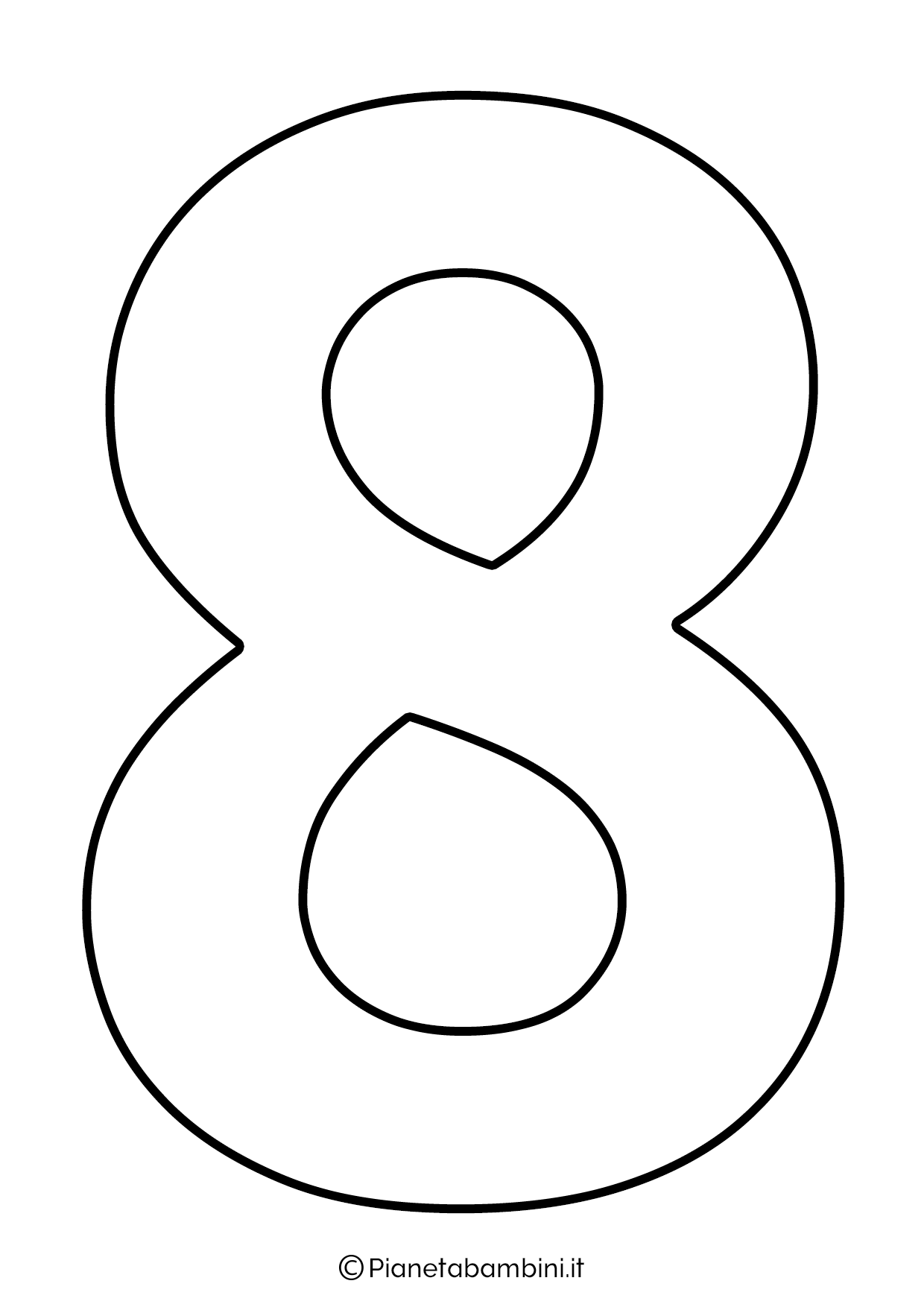 Numero 8 da stampare