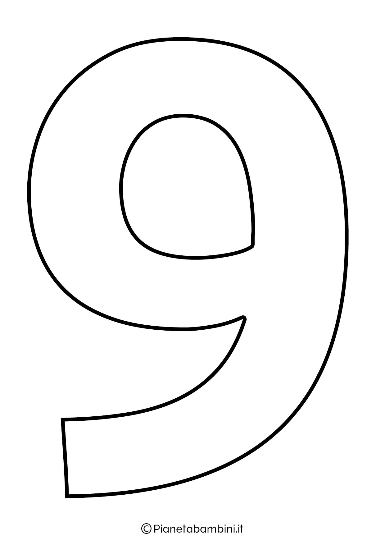 Numero 9 da stampare