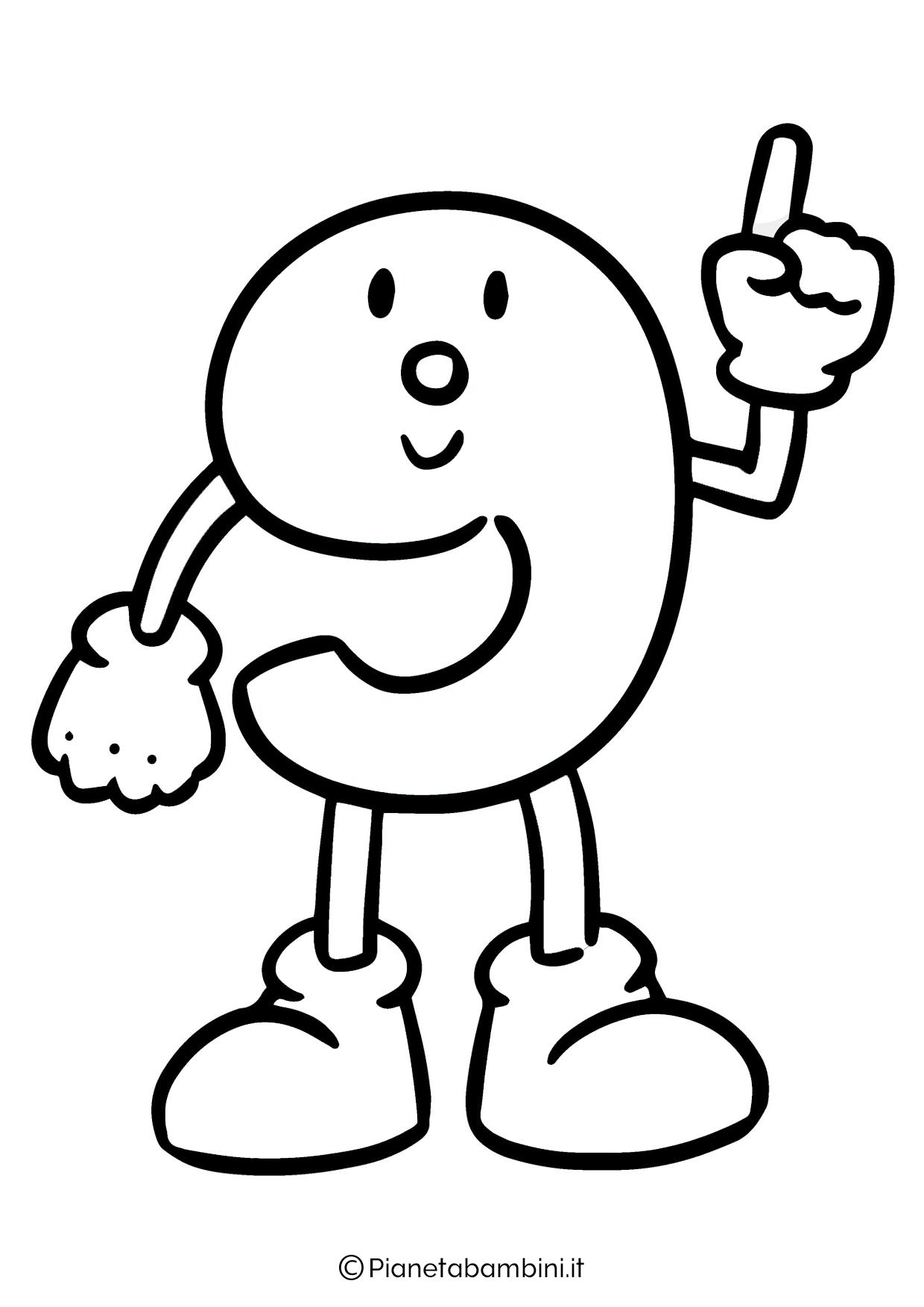Numero nove animato da ritagliare