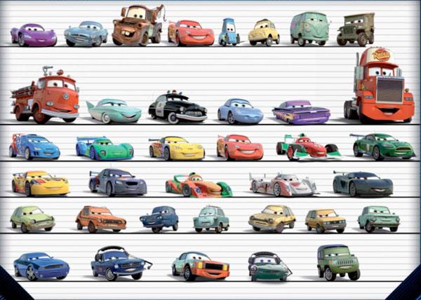 Disegni dei personaggi di cars