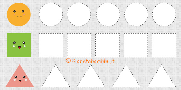 Schede di pregrafismo sulle figure geometriche