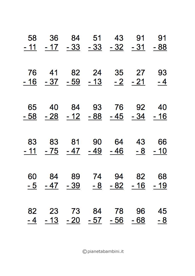 1a elementare: addizione e sottrazione in 1a - Materiale ...