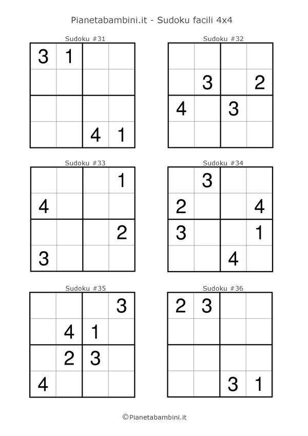 Sudoku facili per bambini da stampare pagina 6