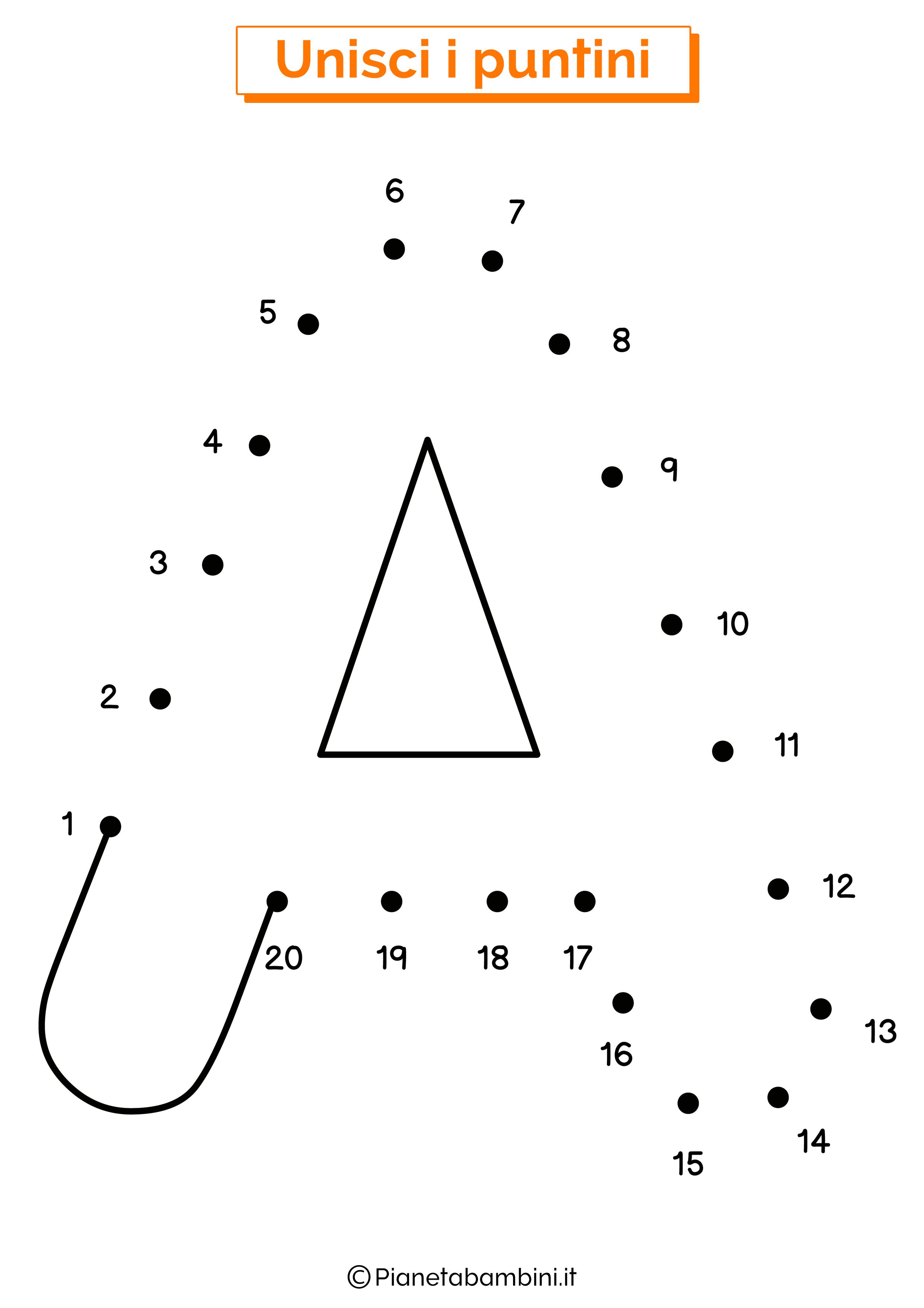 Unisci i puntini con la lettera A