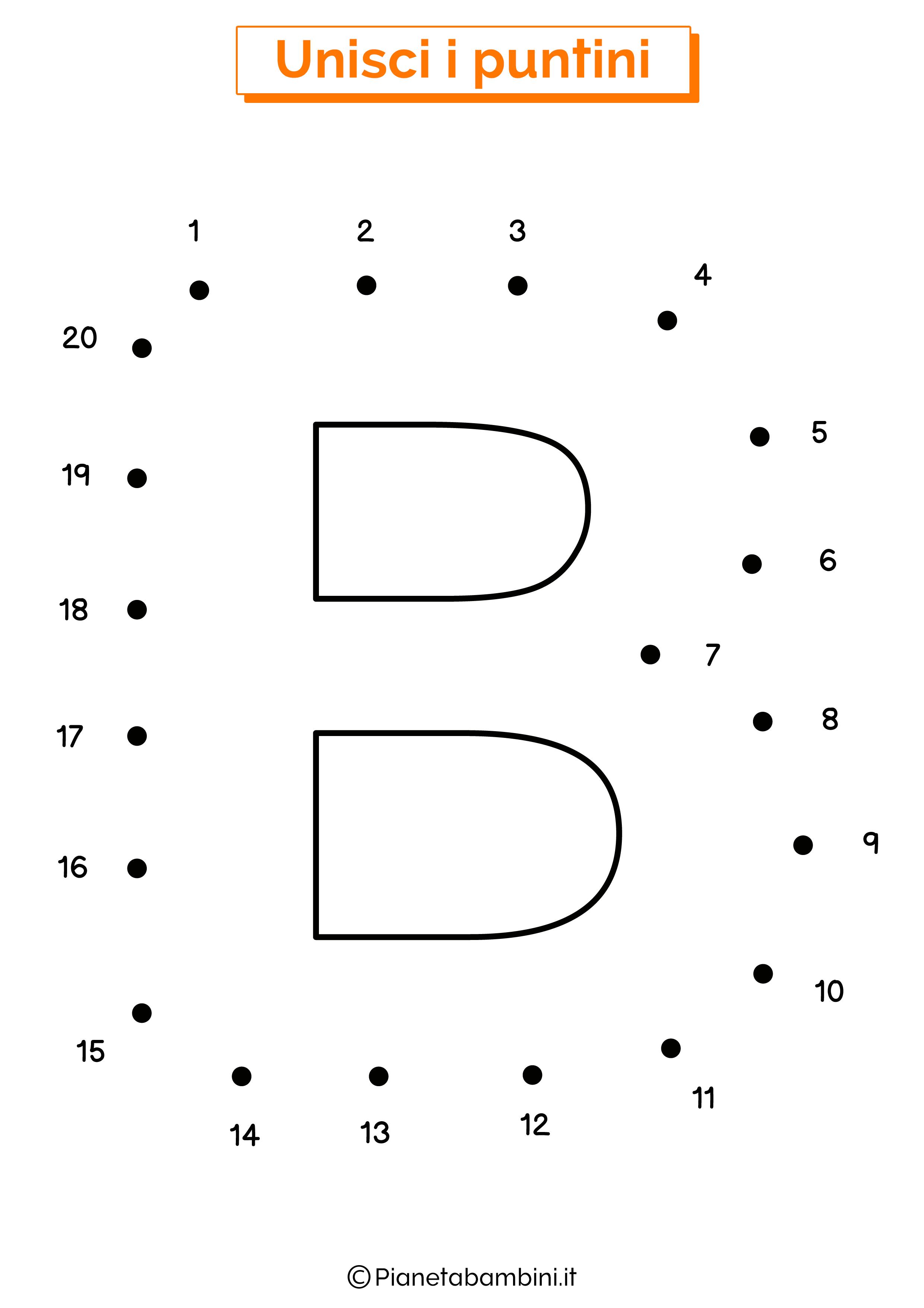 Unisci i puntini con la lettera B