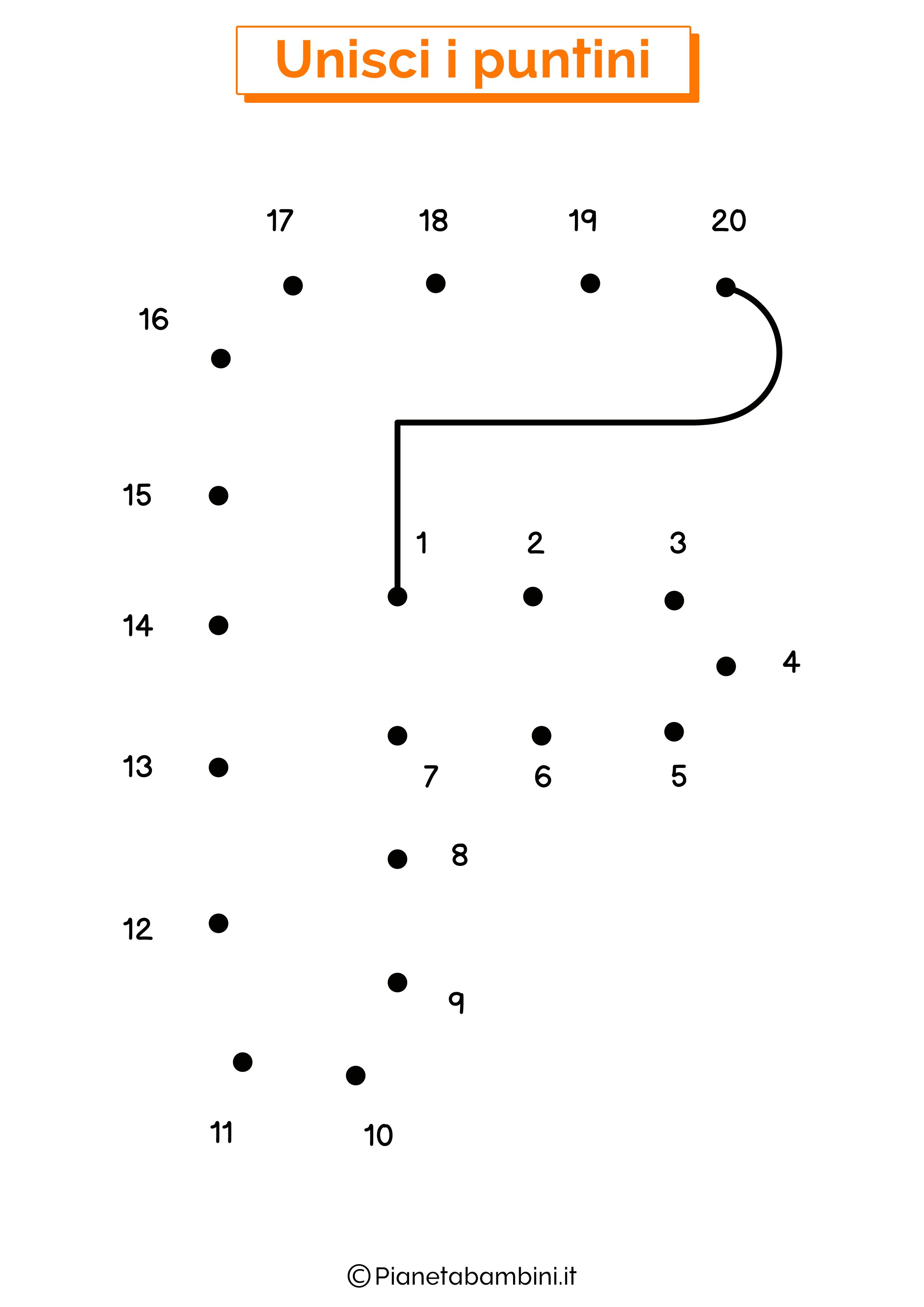 Unisci i puntini con la lettera F