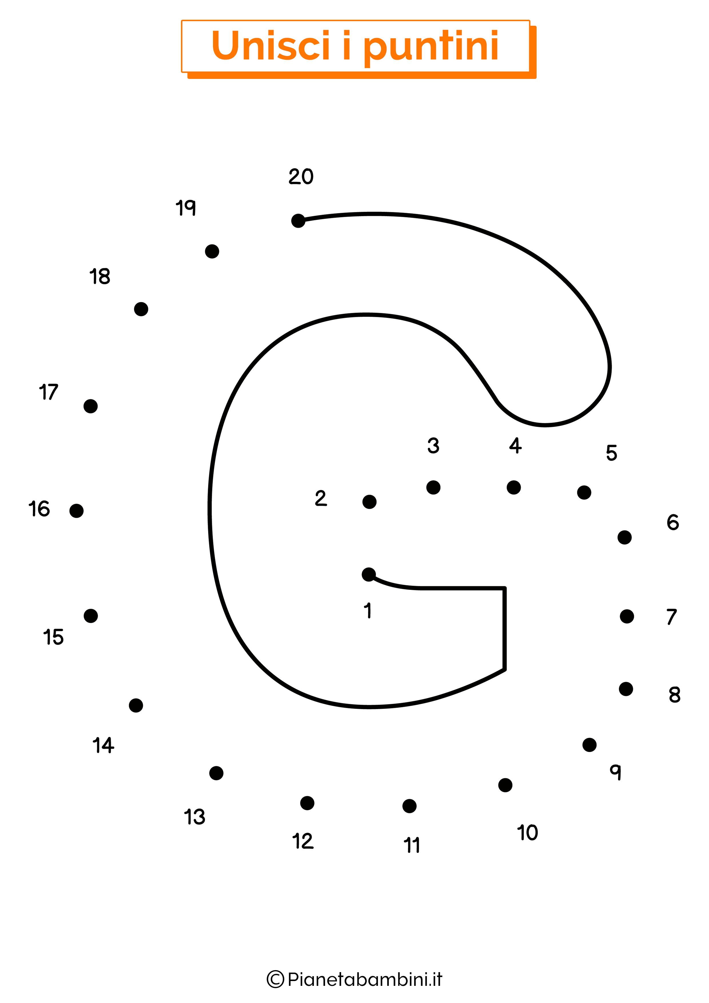 Unisci i puntini con la lettera G
