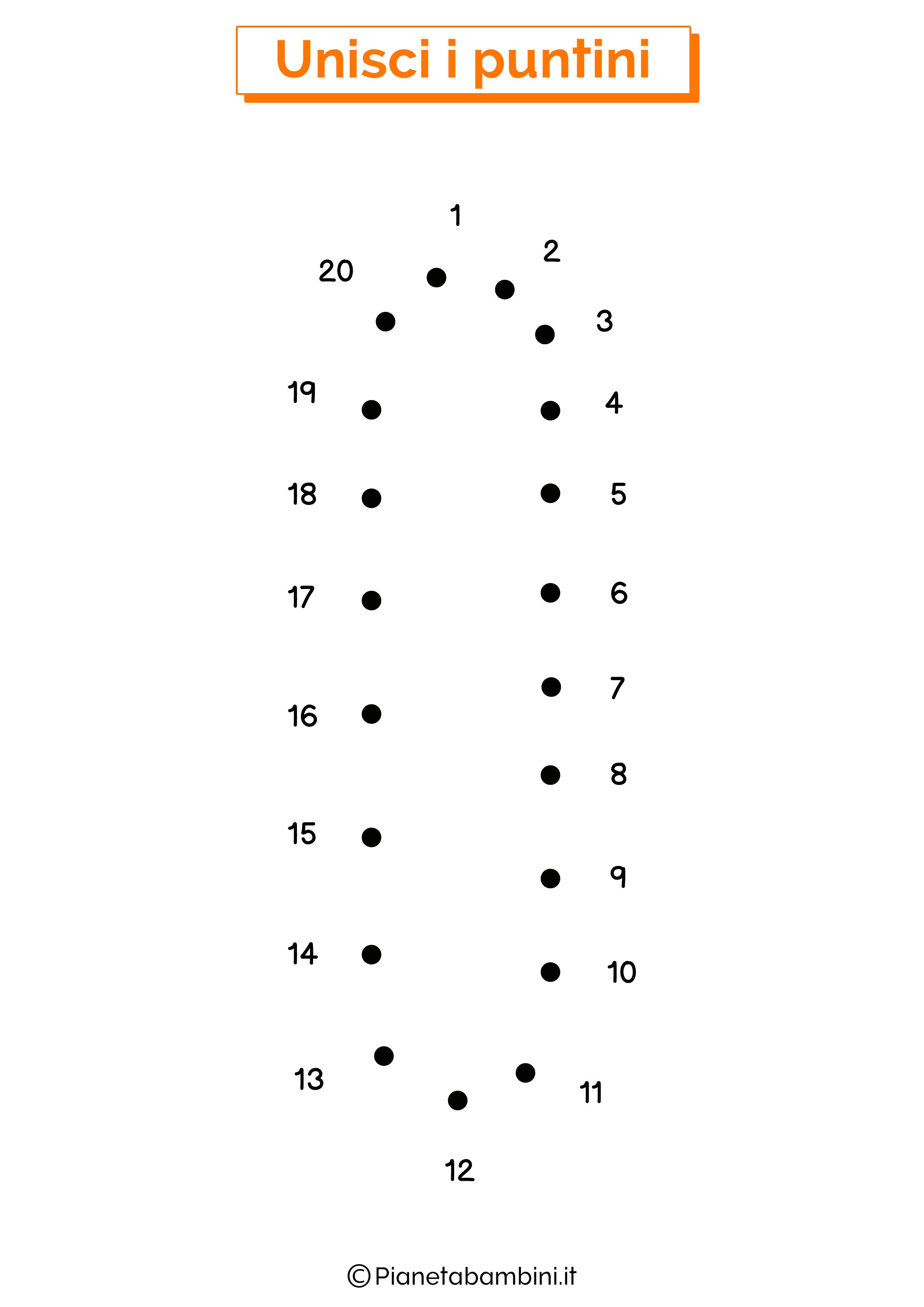 Unisci i puntini con la lettera I