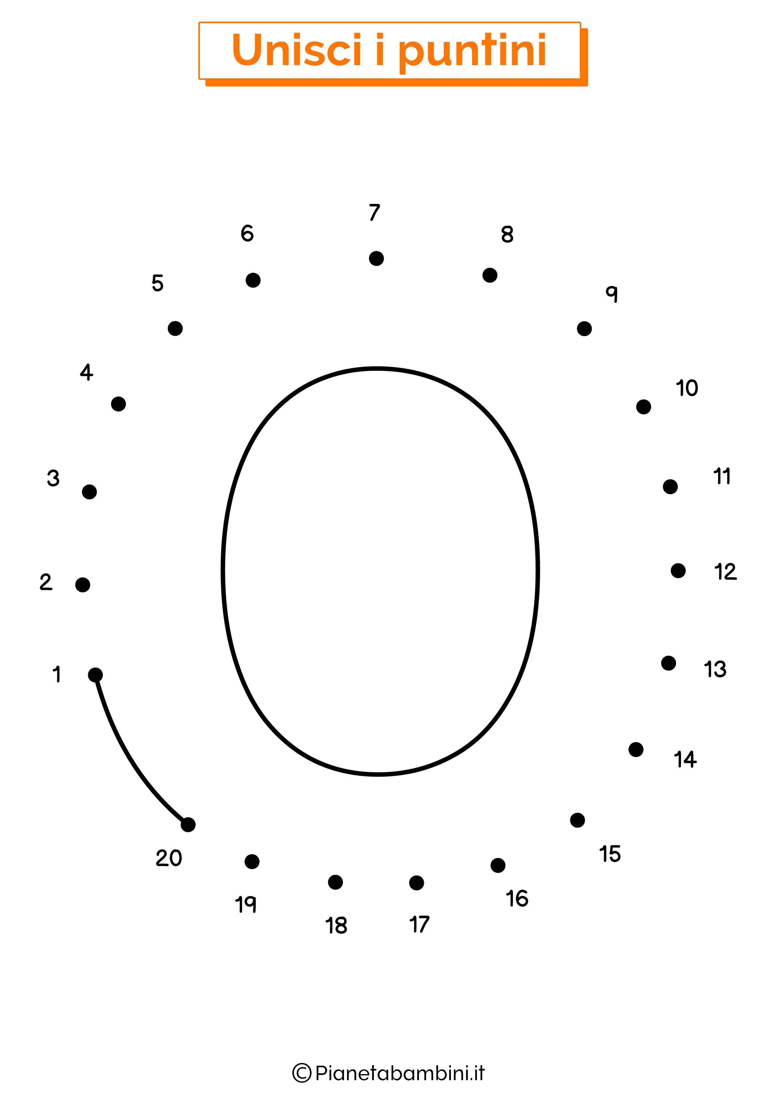 Unisci i puntini con la lettera O