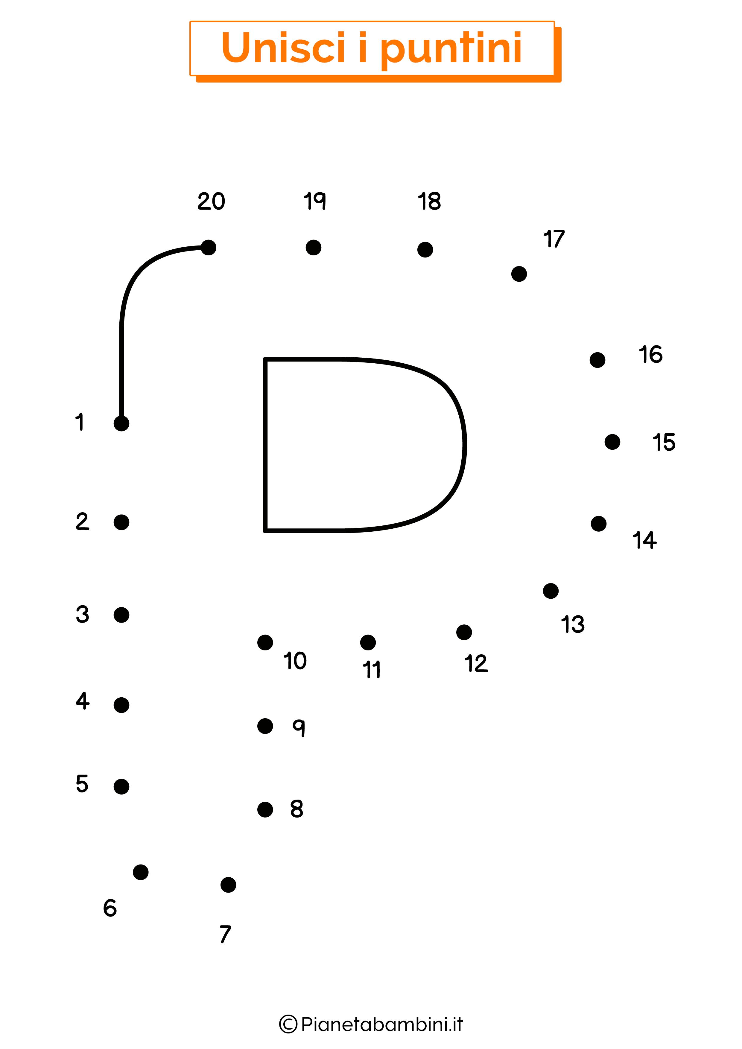 Unisci i puntini con la lettera P