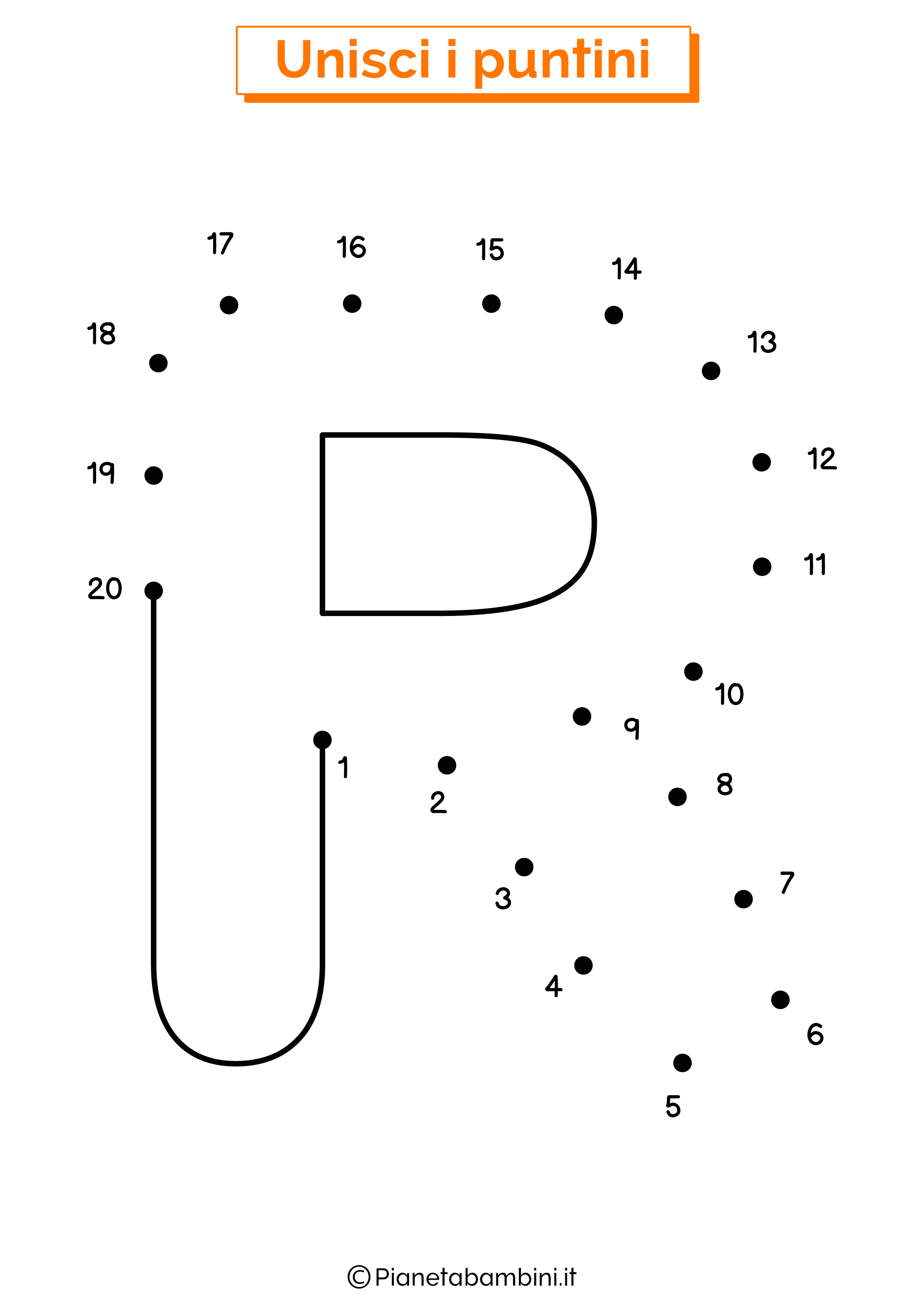 Unisci i puntini con la lettera R