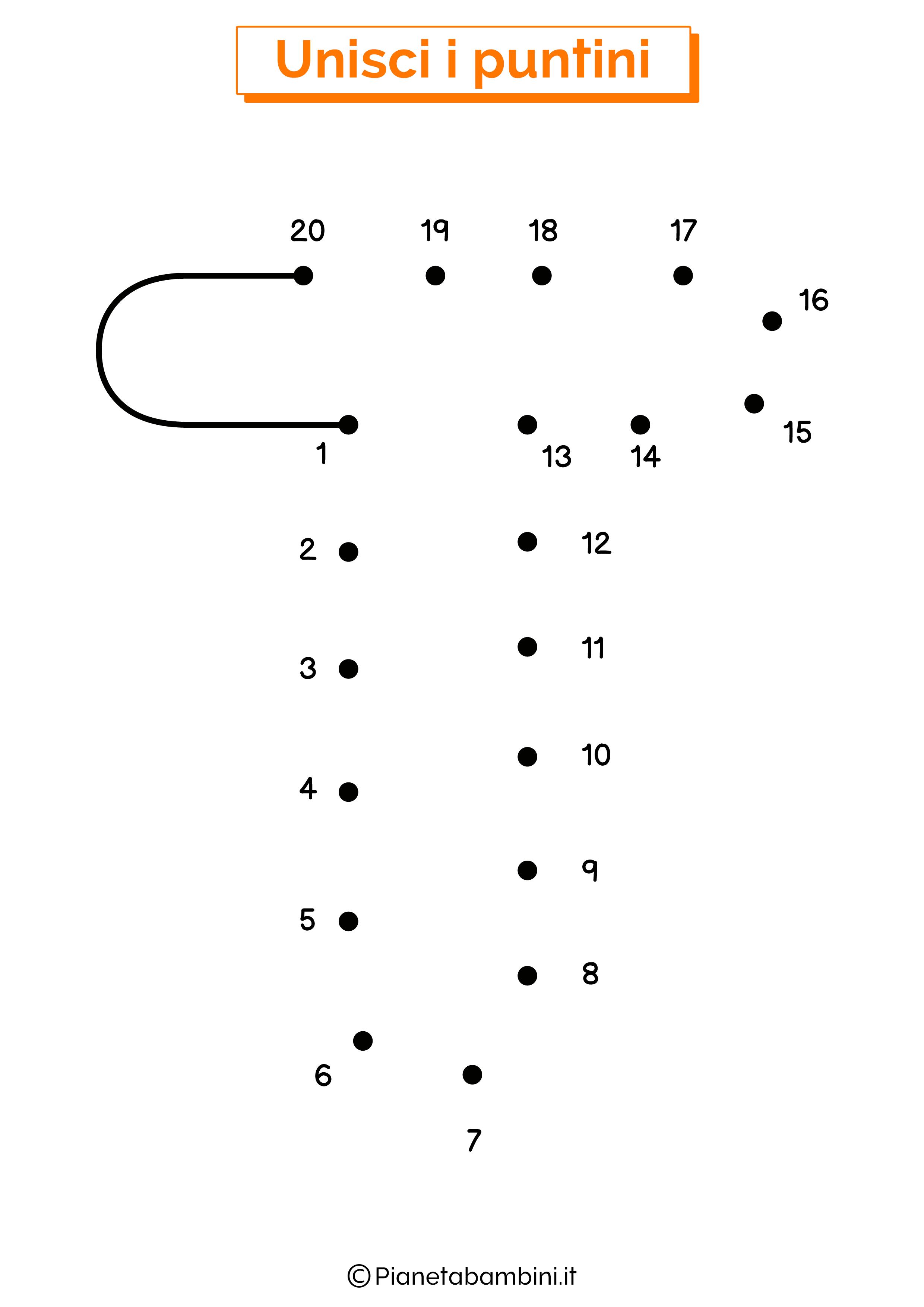 Unisci i puntini con la lettera T