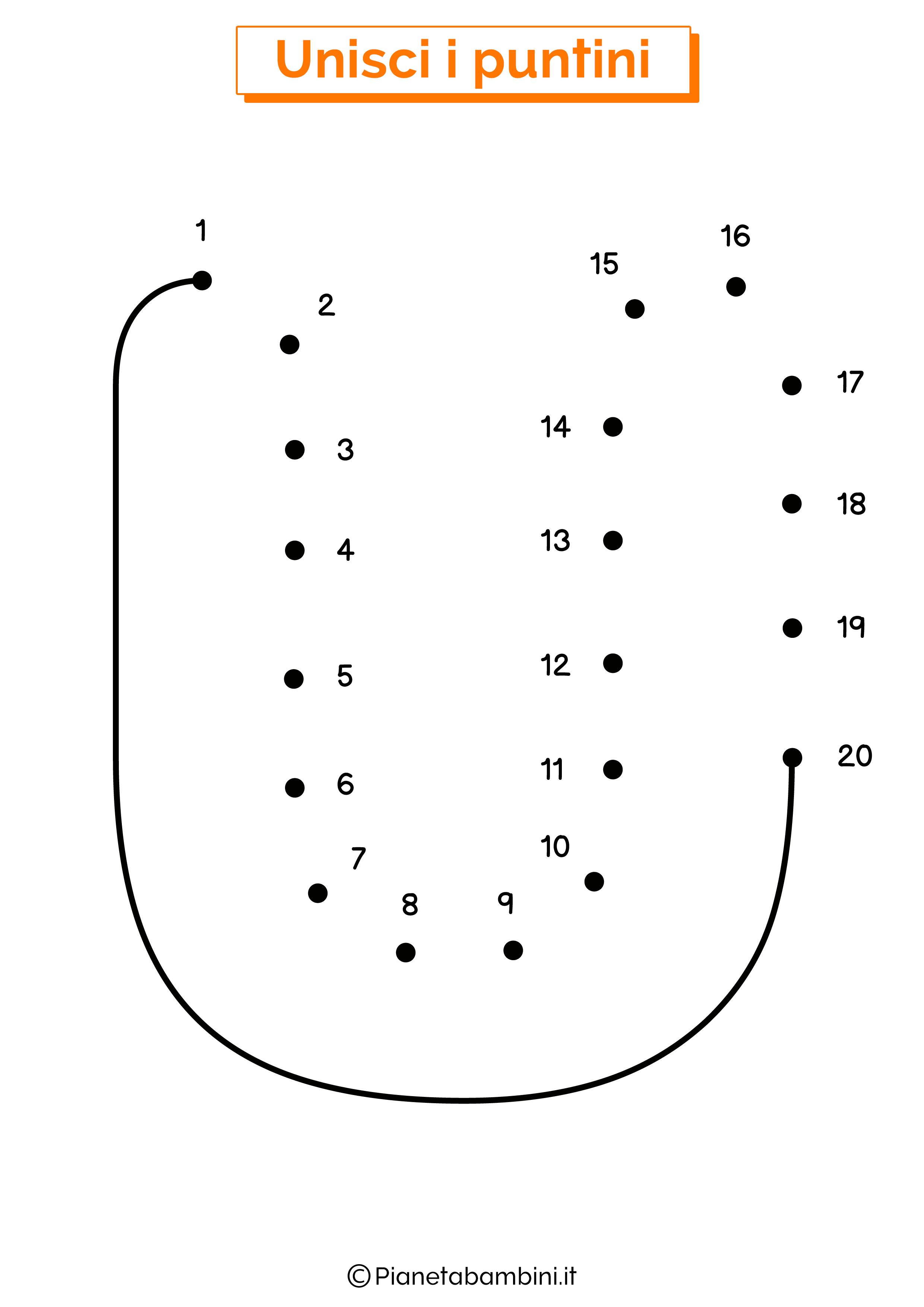 Unisci i puntini con la lettera U
