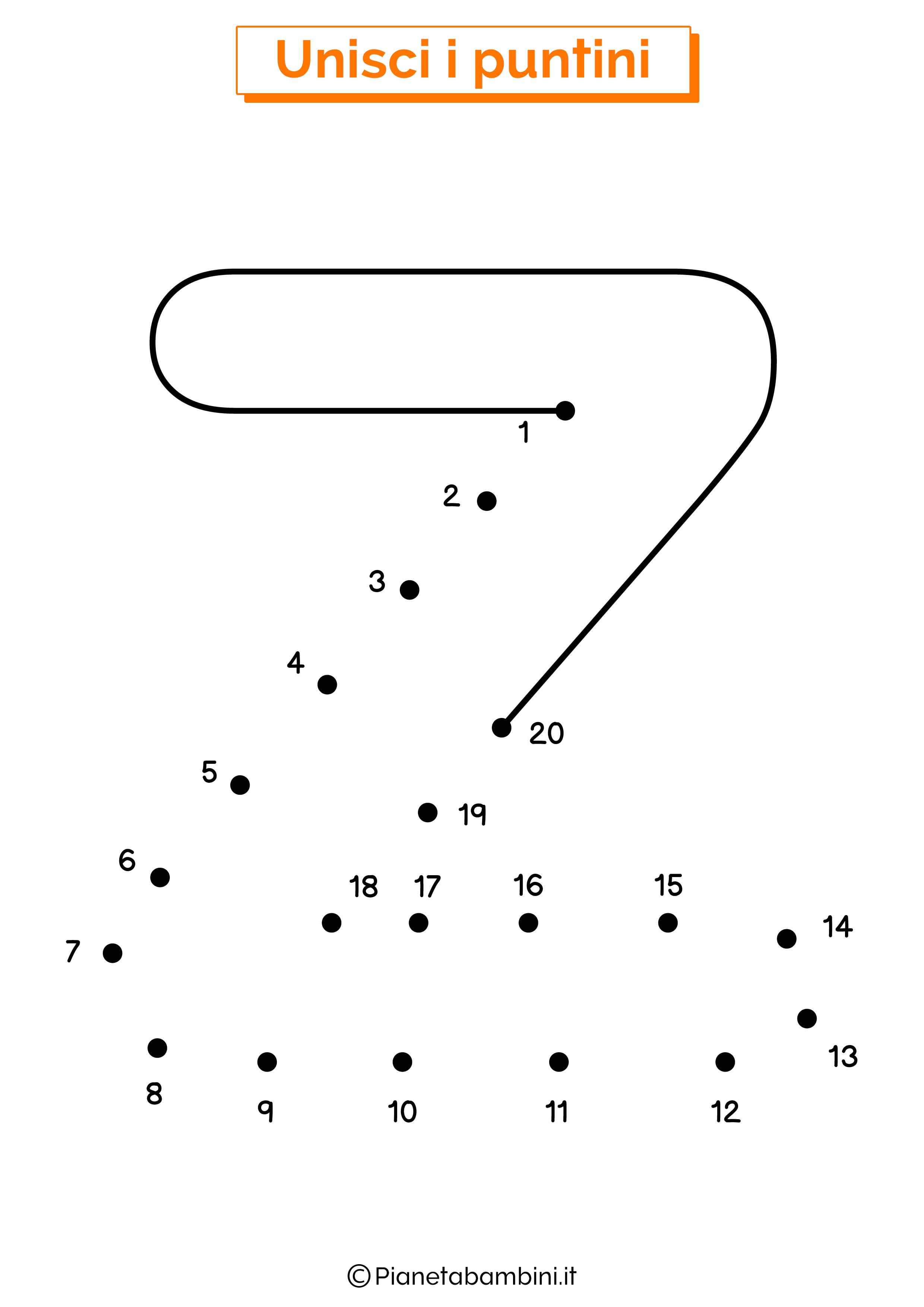 Unisci i puntini con la lettera Z