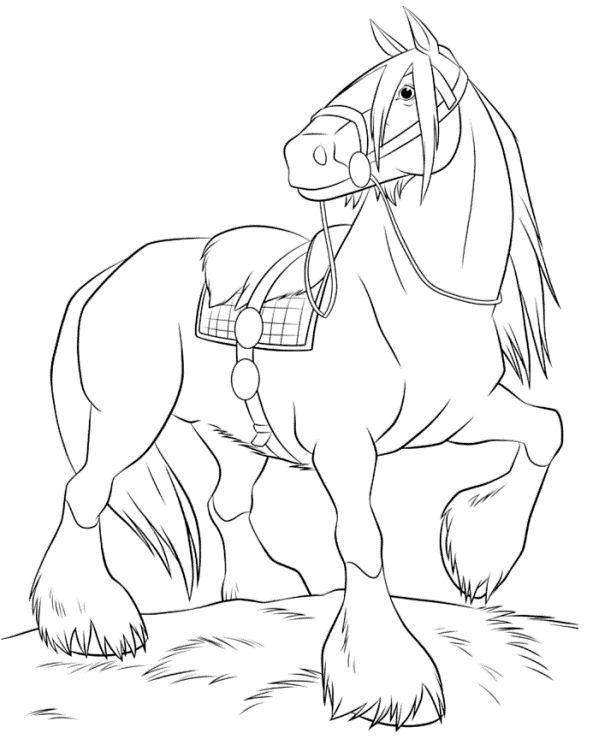80 disegni da colorare di ribelle the brave for Breyer horse coloring pages
