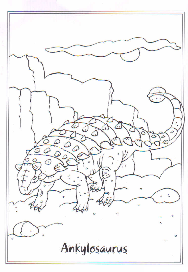 Disegni di dinosauri da colorare pianetabambini