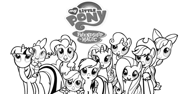 Disegni di My Little Pony - L'Amicizia è Magica da colorare