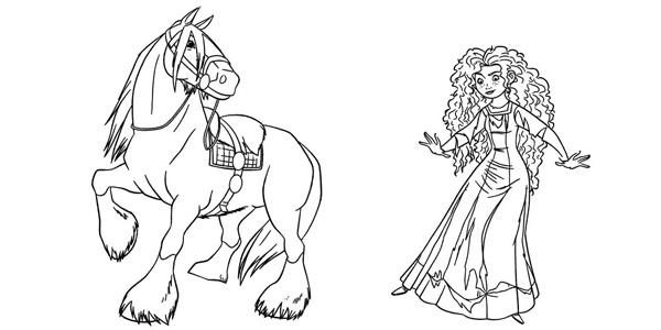 Disegni di Ribelle - The Brave da colorare