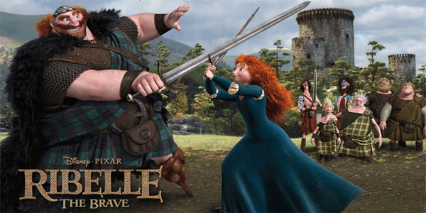 Disegni da colorare di ribelle the brave