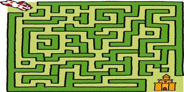 Labirinti per bambini sull'estate