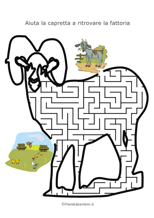 Labirinto a forma di capretta