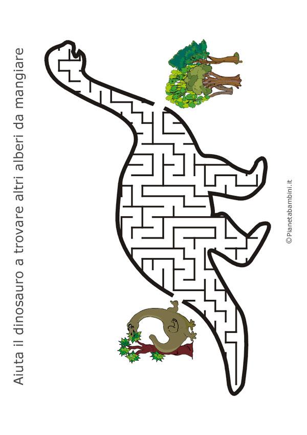 Labirinto a forma di dinosauro