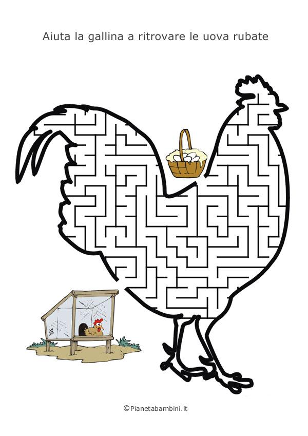 Labirinto a forma di gallina
