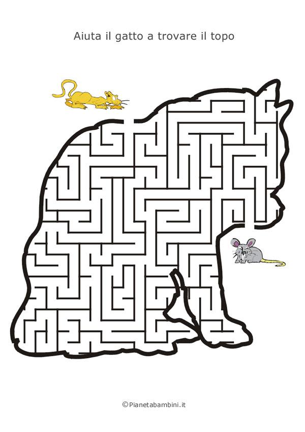 Labirinto a forma di gatto