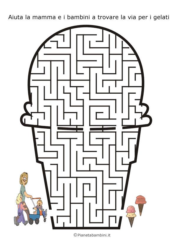 Labirinto a forma di gelato